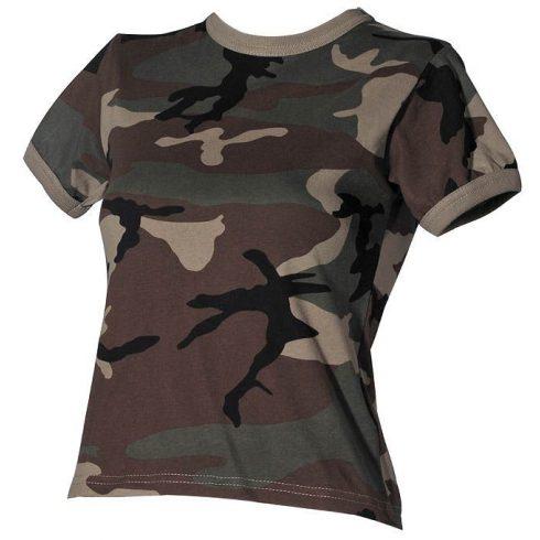 Pro Company 00933 Terepszínű Taktikai Női póló - 100% pamut!
