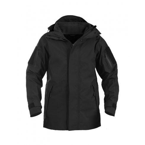 BLACK WET WEATHER JACKET WITH FLEECE LINER GEN.II - esővédő kabát
