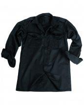MIL-TEC 10931002 Fekete Szolgálai hosszú ujjú ing