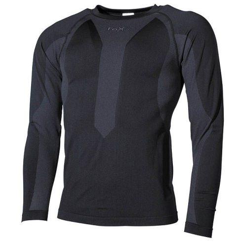 FOX Outdoor 11512 Thermo-Sport Taktikai Aláöltöző Póló - Fekete