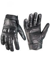 MIL-TEC 12504102 Taktikai bőr kesztyű - Fekete
