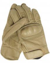 MIL-TEC 12504105 Taktikai bőr kesztyű - Világos Barna