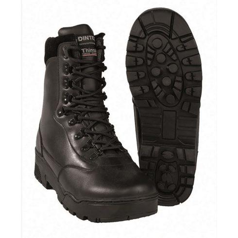 MIL-TEC 12820000 TACTICAL LEATHER BOOTS Taktikai Bőrbakancs - vízálló, fekete