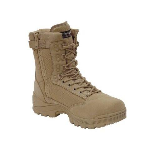 MIL-TEC 12822104 Tactical zip Cipzáras Taktikai Bakancs - Khaki/Homokszínű