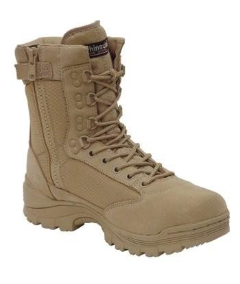 MIL TEC 12822104 Tactical zip Cipzáras Taktikai Bakancs KhakiHomokszínű