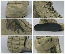 TEESAR 12822141 Tactical zip Cipzáras Taktikai Bőrbakancs - Multicam/Terepszínű