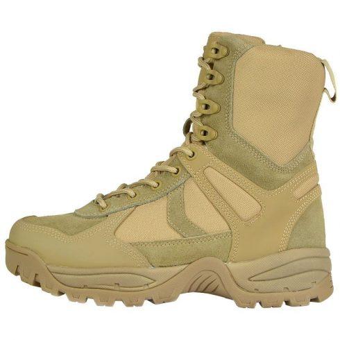MIL-TEC 12822305 PATROL BOOTS ONE-ZIP Cipzáras Taktikai Bakancs - Coyote/Barna