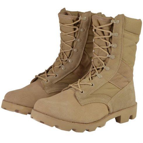 MIL-TEC 12823000 US SPEED LACE Taktikai Sivatagi Bőrbakancs