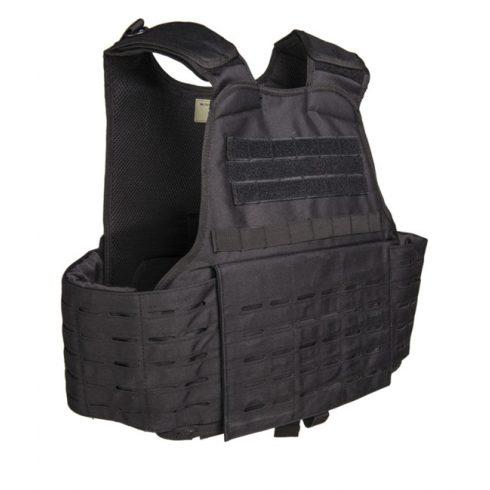 MIL-TEC Laser Cut Carrier Vest - málhamellény - fekete
