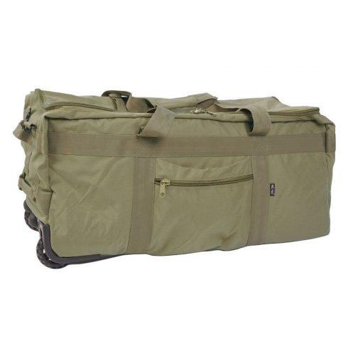MIL-TEC 13854001 COMBAT DUFFLE BAG WITH WHEEL Taktikai Utazótáska - Olive/Olivazöld