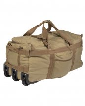MIL-TEC 13854005 COMBAT DUFFLE BAG WITH WHEEL Taktikai Utazótáska - Coyote/Barna