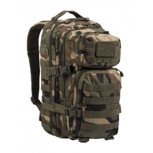 MIL-TEC 14002020 BACKPACK US ASSAULT SMALL Taktikai Hátizsák - Woodland/Terepszínű
