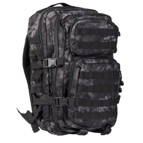 MIL-TEC 14002085 BACKPACK US ASSAULT SMALL Taktikai Hátizsák - Mandra Night/Sötét kígyóbőr mintás
