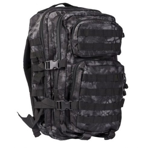MIL-TEC 14002085 BACKPACK US ASSAULT SMALL Taktikai Hátizsák - Mandra Night/Sötét kígyóbőr mintás