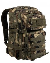 MIL-TEC 14002220 BACKPACK US ASSAULT LARGE Taktikai Hátizsák - Woodland/Terepszínű