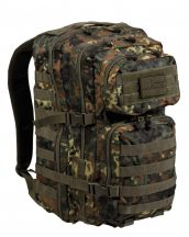 MIL-TEC 14002221 BACKPACK US ASSAULT LARGE Taktikai Hátizsak - Flecktarn/Terepszínű