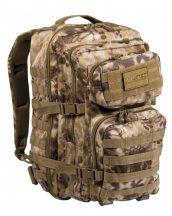 MIL-TEC 14002283 BACKPACK US ASSAULT LARGE Taktikai Hátizsák - Mandra Tan/Kígyóbőr mintás