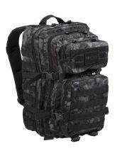 MIL-TEC 14002285 BACKPACK US ASSAULT LARGE Taktikai Hátizsák - Mandra night/Sötét kígyóbőr mintás