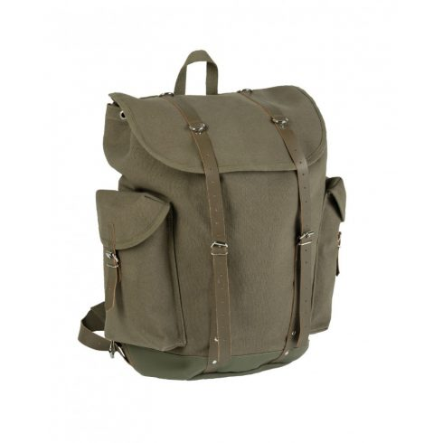 MIL-TEC Német hegyi hátizsák bőr pánttal