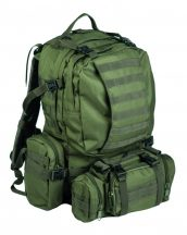 MIL-TEC 14045001 OD DEFENSE PACK ASSEMBLY Taktikai Hátizsák - OD green / oliva zöld