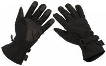 MFH Softshell kesztyű - fekete