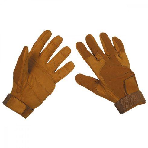 """Gloves, """"Stripes"""", coyote tan kesztyű, bőr"""