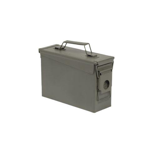 US OD M19A1 CAL. 30 AMMO BOX STEEL WITHOUT PRINT fémláda, nyomat nélkül