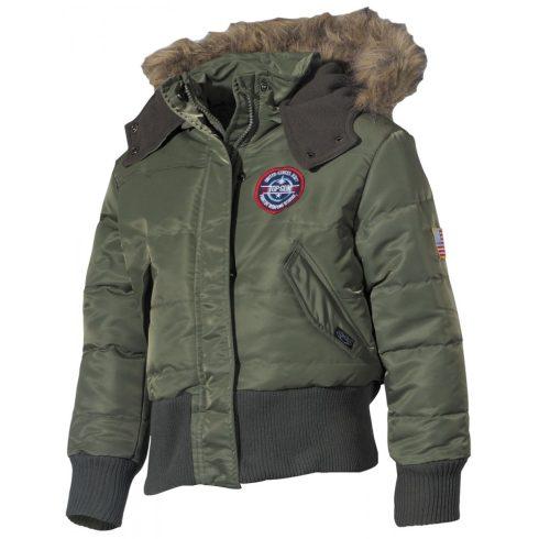 MFH US gyerek polár dzseki kapucnival