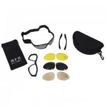 MFH 25873 Army Sports szemüveg, 4 színű cserélhető üveggel - Fekete