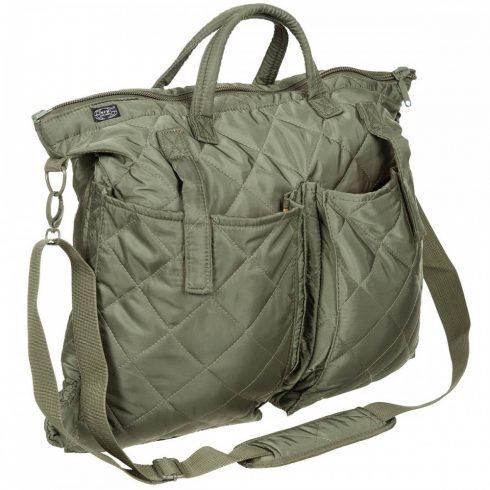 BW Flight Helmet Bag, with shoulder strap, OD green - válltáska