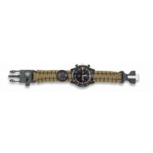 BARBARIC Taktikai óra, paracord szíjjal