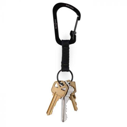 Nite Ize SlideLock kulcstartó - fekete