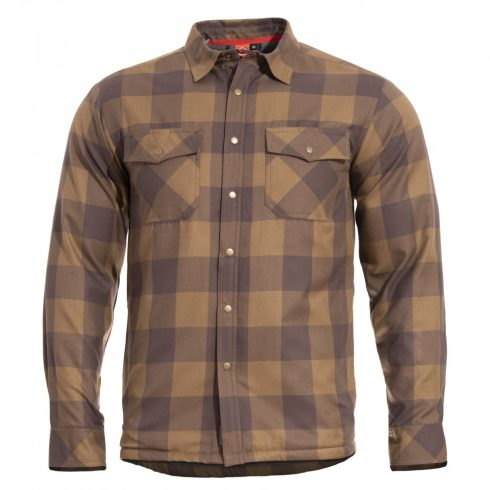 Pentagon BLISS flannel dzseki - Barna