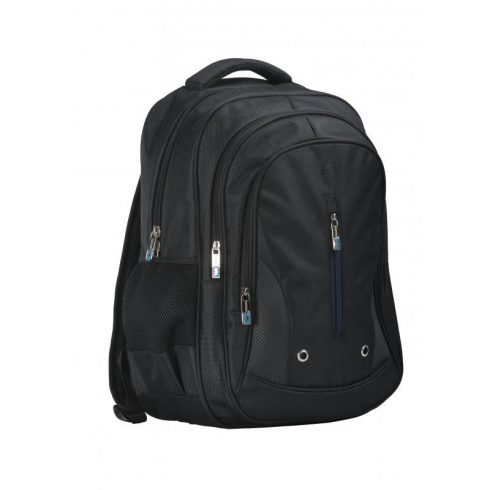 B916 - Három rekeszes hátizsák - fekete