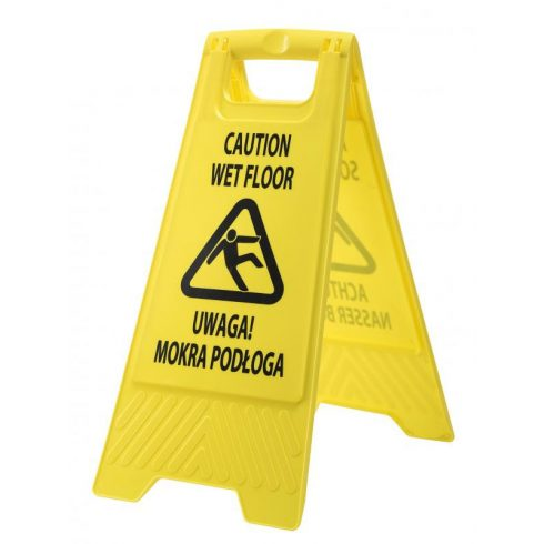 HV21 - Euro csúszásveszély figyelmeztető tábla - sárga