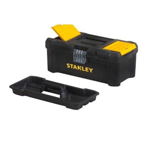 """Stanley 16"""" Szerszámosláda csavartartóval, fémcsatos"""