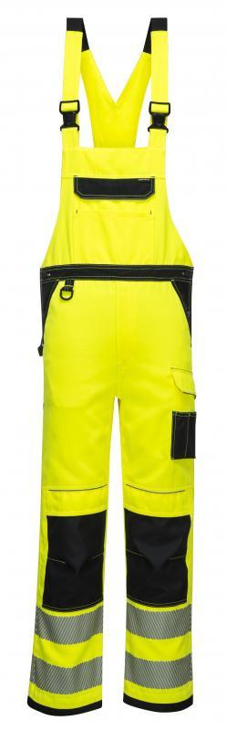 PW344 - PW3 Hi-Vis kantáros nadrág - sárga/fekete